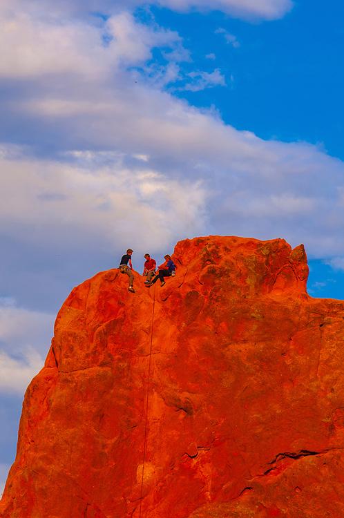 Rock climbing, Garden of the Gods, Colorado Springs, Colorado USA