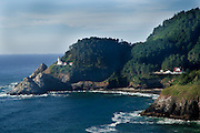 View of Heceta Head Lighthouse on the Oregon Coast