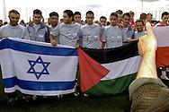 Israelisch-palästinensische jugendauswahl zur Streetsoccerr WM in Berlin