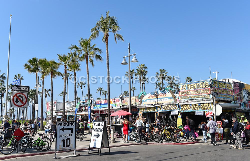 J's Rentals on Windward Avenue and the Boardwalk in Venice Beach