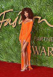 Jourdan Dunn attending the Fashion Awards 2017, in partnership with Swarovski, held at the Royal Albert Hall, London. Picture Date: Monday 4th December, 2017. Photo credit should read: Matt Crossick/PA Wire