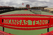 Sports photography of the 2011 Arkansas Razorback men's tennis team.
