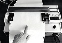 Braille printer at RNIB Loughborough, UK 1990