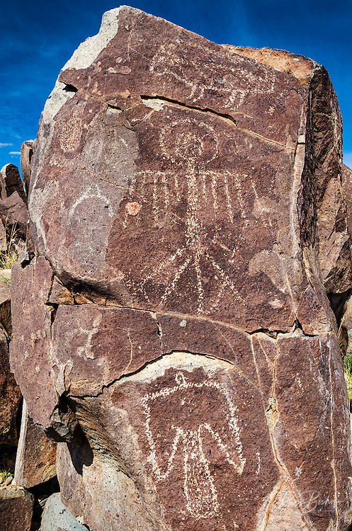 Petroglyphs at Three Rivers Petroglyph Site, Three Rivers, New Mexico USA