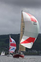 25th Anniversary of Kip Regatta<br /> <br /> - Yachting<br /> <br /> K4203, Stargazer, A. Campbell/ A. Bisland, CCC / Arran YC , Grand Soleil 34