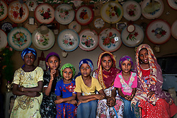 Young girls sit inside a home outside of Al Hudaydah, Yemen. Feb. 9, 2010. Yemen's women's rights groups agree that child marriage is rampant in every part of Yemeni society.