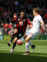 Football - 2015 / 2016 Premier League - AFC Bournemouth vs. Liverpool<br /> Bournemouth's Joshua King and Lucas Leiva of Liverpool in action at The Vitality Stadium (Dean Court) Bournemouth<br /> <br /> Colorsport/Shaun Boggust