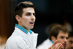 Tilen Zitnik of Slovenia during Day 3 of the tennis matches between Slovenia and Monaco of 2017 Davis Cup Europe/Africa Zone Group II, on February 5, 2017 in Tennis Arena Tabor, Maribor Slovenia. Photo by Vid Ponikvar / Sportida
