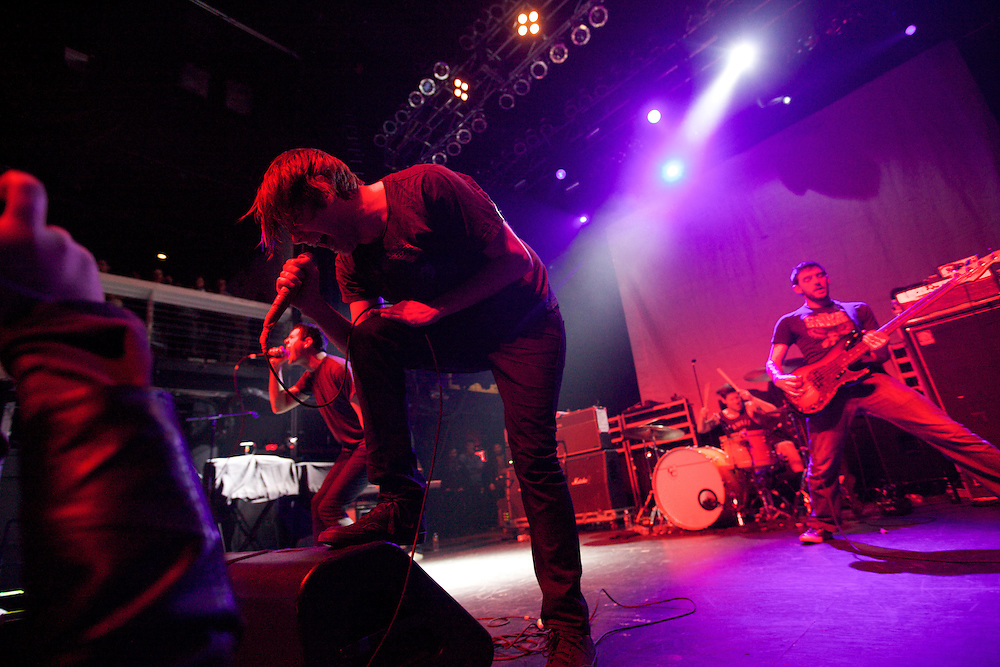 Geoff Rickly and the New Brunswick band Thursday perform at Terminal 5 in Manhattan, Thursday, February 17, 2011. (Photo/Claudio Papapietro)
