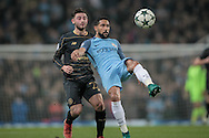 Gaël Clichy (Manchester City) clears the ball over his head during the Champions League match between Manchester City and Celtic at the Etihad Stadium, Manchester, England on 6 December 2016. Photo by Mark P Doherty.