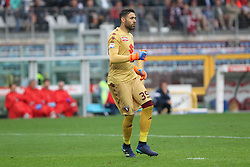 May 13, 2018 - Turin, Piedmont, Italy - Salvatore Sirigu (Torino FC) during the Serie A football match between Torino FC and S.P.A.L. at Olympic Grande Torino Stadium on May 13, 2018 in Turin, Italy. (Credit Image: © Massimiliano Ferraro/NurPhoto via ZUMA Press)