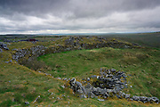 Perched on a cliff about the Burren, Co. Clare, this triple-ringed fort dates back to at least the 9th century.