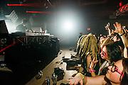 Skrillex performing at SRB Brooklyn in Brooklyn, New York as part of his Brooklyn Takover series on February 12, 2014.