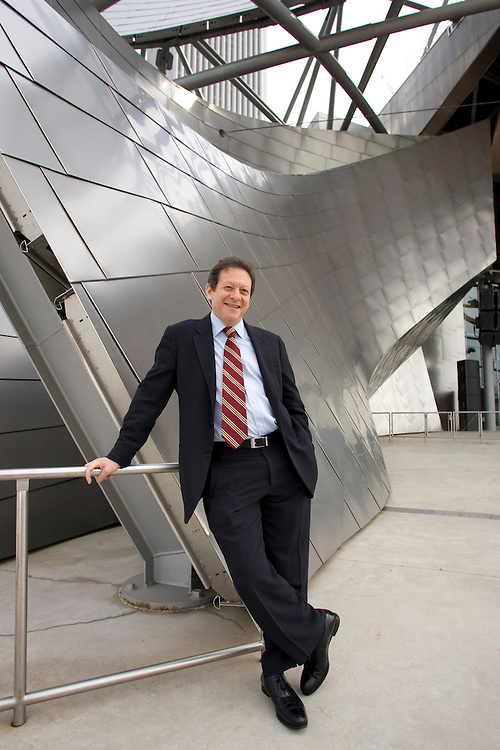 Portrait of Thomas Pritzker, Chairman of Global Hyatt Corporation, photographed at the Jay Pritzker Pavilion at Millennium Park in Chicago.
