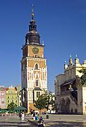 Kraków, 2007-07-08. Wieża ratuszowa w Krakowie