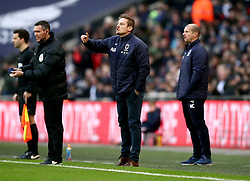 AFC Wimbledon's manager Neal Ardley gestures on the touchline