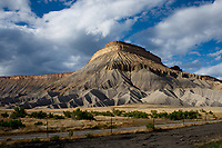 PALISADE, Colorado - Mount Garfield is the high point of the Book Cliffs of Grand Mesa, north of the city of Grand Junction, and overlooking the town of Palisade. The mountain was named after President James Abraham Garfield in 1882, a year after he was assissinated. Picture: Ryan Eyer