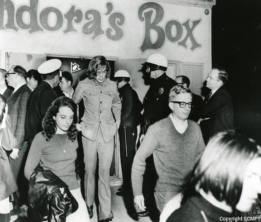 1966 Pandora's Box Nightclub on Sanata Monica Blvd. in West Hollywood
