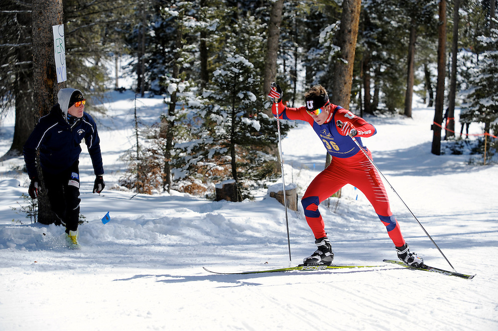 07 MAR 2012: Miles Havlick of the University of Utah during Men's Freestyle Cross Country event at the NCAA Division I Men and Women's Ski Championship held at Bohart Ranch hosted by Montana State University in Bozeman, MT. Havlick placed 2nd in the event. © Brett Wilhelm