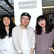 Designer of the FJU Talents Backstate at Fashion Scout - SS19 Day 3, on 15 September 2019, London, UK