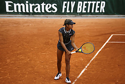 May 22, 2019 - Paris, France - Whitney Osugwe of USA servers during the first qualifications round of Roland Garros against Myrtille Georges of France, on 22 May 2019 in Paris, France, (Credit Image: © Ibrahim Ezzat/NurPhoto via ZUMA Press)