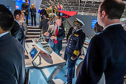 Some of the ships (incl the Offshore Patrol Vessel) made by Bae Systems Stand - The DSEI (Defence and Security Equipment International) exhibition at the Excel Centre, Docklands, London UK 15 Sept 2015