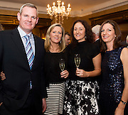 Eoin Kirby Naas, Ciara Fallon Gorta Self Help Africa and Antonia Dominguez and and Orla KIlcullen Naas at the Gorta Self Help Africa Annual Ball in Hotel Meyrick Galway City. Photo: Andrew Downes, XPOSURE.