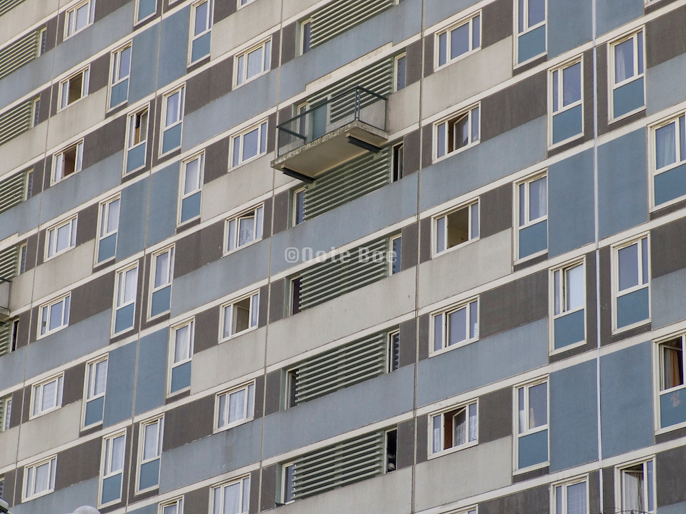 close up of a residential high rise tower