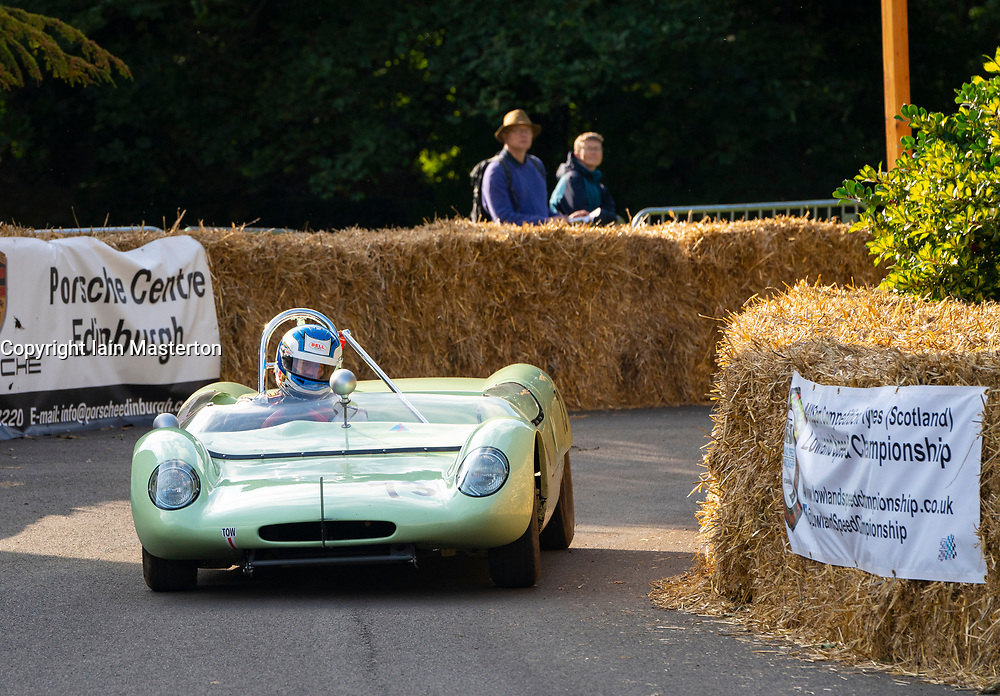 Boness Revival hillclimb motorsport event in Boness, Scotland, UK. The 2019 Bo'ness Revival Classic and Hillclimb, Scotland's first purpose-built motorsport venue, it marked 60 years since double Formula 1 World Champion Jim Clark competed here.  It took place Saturday 31 August and Sunday 1 September 2019. 73. David Gidden. Lotus 23