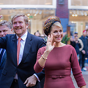 NLD/Amsterdam/20200218 -  Koningspaar bij seminar 'indonesia and the Netherlands, aankomst Koningspaar Willem-Alexander en Maxima