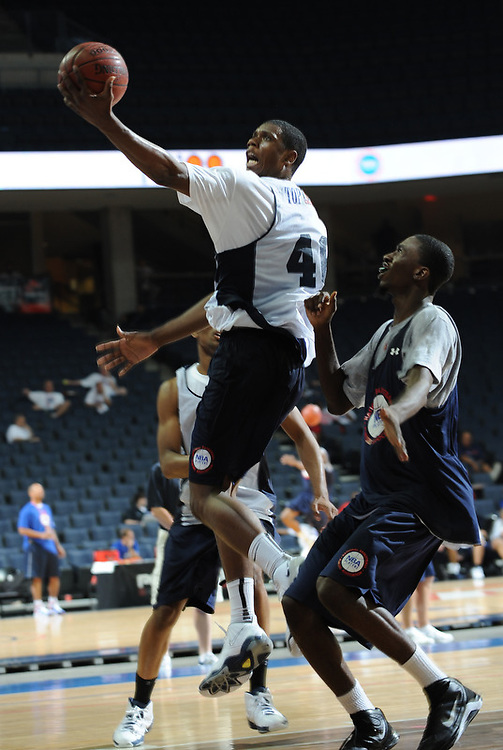 Terrance Jones handles the ball during the 2009 NBPA Top 100 Basketball Camp held Friday June 17- 20, 2009 in Charlottesville, VA. Photo/ Andrew Shurtleff