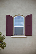 Single Arched Window With Shutters Detail