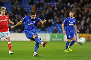 Cardiff City's Marko Grujic scores their second goal with a long range effort. EFL Skybet championship match, Cardiff city v Barnsley at the Cardiff city stadium in Cardiff, South Wales on Tuesday 6th March 2018.<br /> pic by Carl Robertson, Andrew Orchard sports photography.