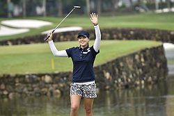 October 26, 2017 - Kuala Lumpur, Malaysia - In Gee Chun of South Korea celebrates after the birdie on the 18th hoe during day one of the Sime Darby LPGA Malaysia at TPC Kuala Lumpur on October 26, 2017 in Kuala Lumpur, Malaysia. (Credit Image: © Chris Jung/NurPhoto via ZUMA Press)