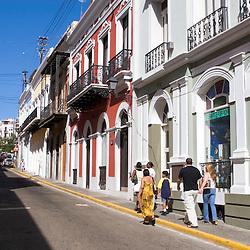 The streets of Old San Juan, Puerto Rico at Christmas.