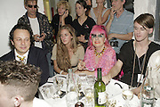Judges: Detmar Blow, Kate Pakenham ( ?) and Zandra Rhodes, The Bistrotheque Annual Drag Ball , Bistrotheque, 23 Wadeson Street, London, E2, 15 August 2006. TONE TIME USE ONLY - DO NOT ARCHIVE  © Copyright Photograph by Dafydd Jones 66 Stockwell Park Rd. London SW9 0DA Tel 020 7733 0108 www.dafjones.com