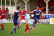 Ebbsfleet United midfielder Jack Powell (7) in control during the Vanarama National League South match between Ebbsfleet United and East Thurrock United at the Enclosed Ground, Whitehawk, United Kingdom on 4 March 2017. Photo by Jon Bromley.