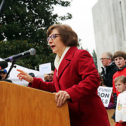 Rep. Suzanne Bonamici. <br /><br />Thousands of educators and their supporters from all over the state gather at the Oregon State Capitol to rally for adequate school funding. A select group of teachers and staff members spoke to Gov. Kate Brown about their experiences, and shared with her the challenges of being a teacher today.<br /><br />Photography by Thomas Patterson.