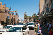 Israel, Jaffa. Yefet Street. The clock tower in the background