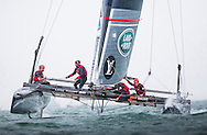 Image licensed to Lloyd Images. Free for editorial use. <br /> Pictures of Official Practice Day 24.07.15 - Land Rover BAR America's Cup Racing Team skippered by Sir Ben Ainslie (GBR) <br /> Credit: Lloyd Images