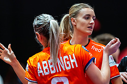 Kelly Dulfer of Netherlands in action during the Women's EHF Euro 2020 match between Netherlands and Germany at Sydbank Arena on december 14, 2020 in Kolding, Denmark (Photo by RHF Agency/Ronald Hoogendoorn)