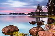 Shiroka Polyana lake in Rhodope Mountains in the begining of october