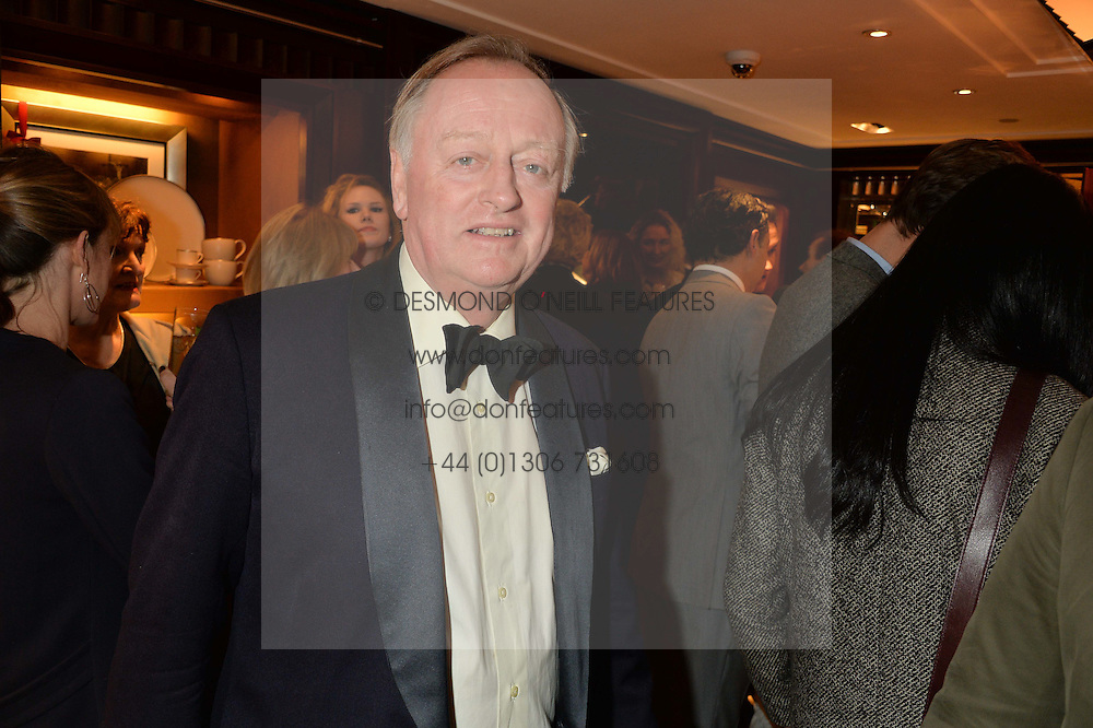 ANDREW PARKER BOWLES at a party to celebrate the publication of 'A Designer's Life' by Nicky Haslam held at Ralph Lauren, 1 New Bond Street, London on 19th November 2014.