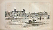 Greenwich Hospital and River Thames From the book ' London and its environs : a practical guide to the metropolis and its vicinity, illustrated by maps, plans and views ' by Adam and Charles Black Published in Edinburgh by A. & C. Black 1862