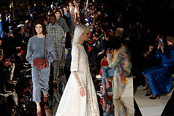 Models wear creations for Stella McCartney's ready-to-wear fall-winter 2018/2019 fashion collection presented in Paris, Monday , March 5, 2018. (AP Photo/Francois Mori)