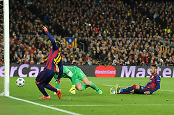 Barcelona's Jordi Alba goal is disallowed for offside - Photo mandatory by-line: Dougie Allward/JMP - Mobile: 07966 386802 - 18/03/2015 - SPORT - Football - Barcelona - Nou Camp - Barcelona v Manchester City - UEFA Champions League - Round 16 - Second Leg