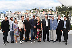 Edward Walson, director Kevin Connolly, Stacy Keach, John Travolta, Kelly Preston and guests attending the Rendez-vous with John Travolta - Gotti Photocall held at the Palais des Festivals as part of the 71th annual Cannes Film Festival on May 15, 2018 in Cannes, France. Photo by Aurore Marechal/ABACAPRESS.COM