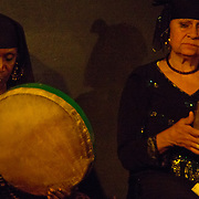Mazaher drumming ladies at Makan in Downtown Cairo, Egypt.