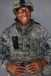 Specialist Jay Turner, 25. Detroit, Michigan. Soldiers from Alpha Battery 3-321 Field Artillery in Afghanistan's eastern Khost Province at the Terezayi District Center near the Afghan-Pakistan border on Friday Oct. 17, 2008.