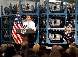 06.05.2011, Allison Transmission, Indianapolis, USA, BARACK OBAMA IN INDIANAPOLIS, im Bild US President Barack Obama speaks during his visit at Allison Transmission's headquarters in Indianapolis, Indiana, USA on 6 May 2011, EXPA Pictures © 2011, PhotoCredit: EXPA/ Newspix/ KAMIL KRZACZYNSKI *** ATTENTION *** FOR AUSTRIA AUT, SLOVENIA SLO, SERBIA SRB an CROATIA CRO, SWISS SUI and SWEDEN SWE CLIENT ONLY / SPORTIDA PHOTO AGENCY